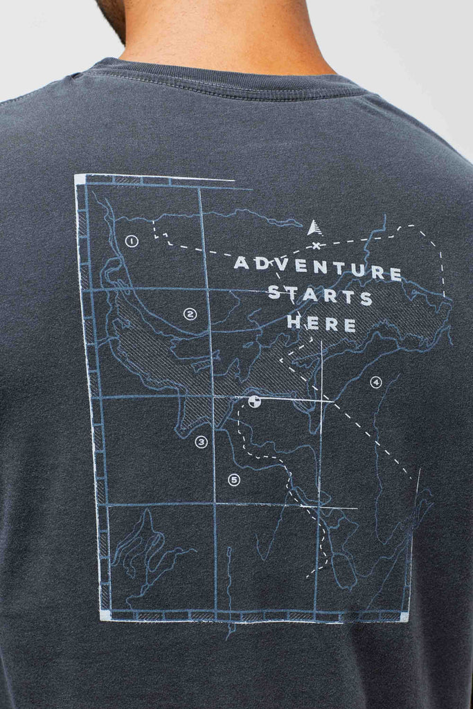 United By Blue - Mens L/S Adventure Starts Here - Steel Grey