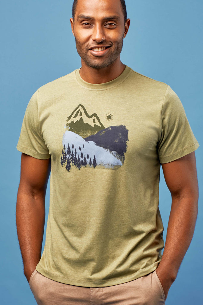 United By Blue - Mens Mountain Ink T-Shirt - Mens T-Shirts