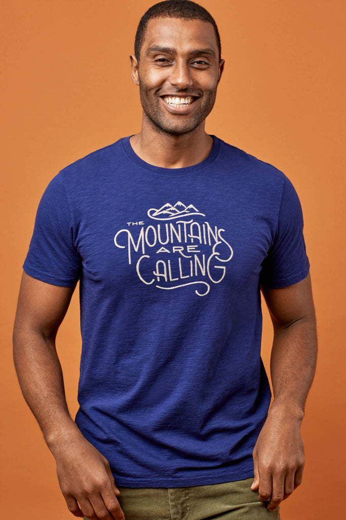 United By Blue - Mens Mountains are Calling T-Shirt - Outdoor T-Shirt