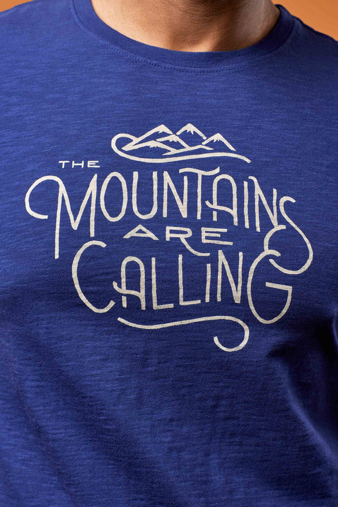 United By Blue - Men's Mountains are Calling T-Shirt - Organic Cotton Tee