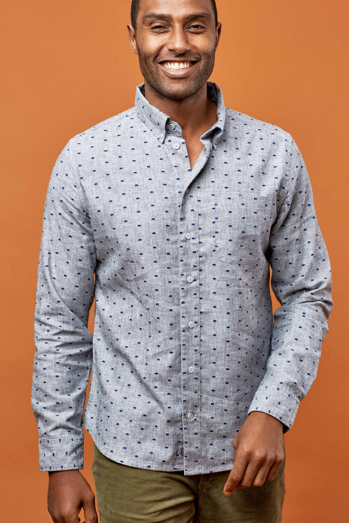 United By Blue - Mens Nord Stretch Print Shirt - Shirts