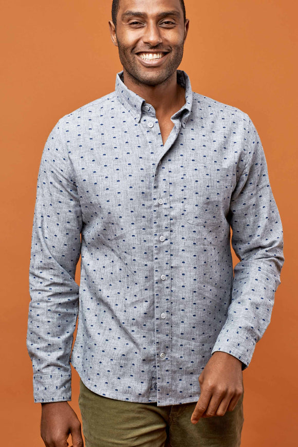 United By Blue - Mens Nord Stretch Print Shirt