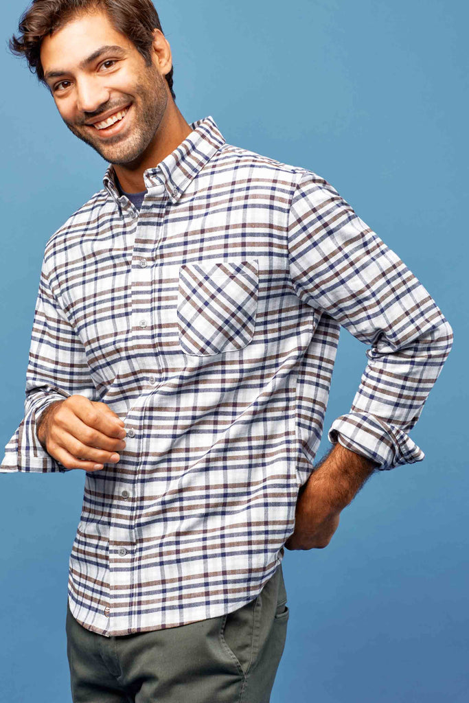 United By Blue - Mens Pitchstone Plaid Shirt