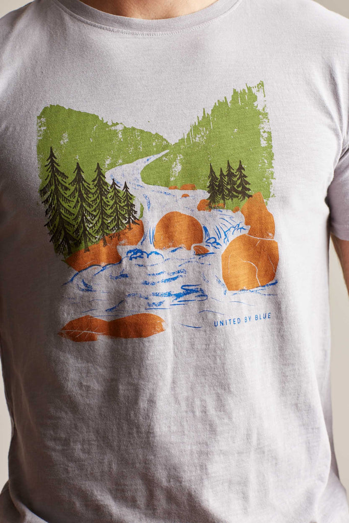 0f3ec9b8e United By Blue - Woodcut River Tee Grey | TheOutdoorBoutique.com