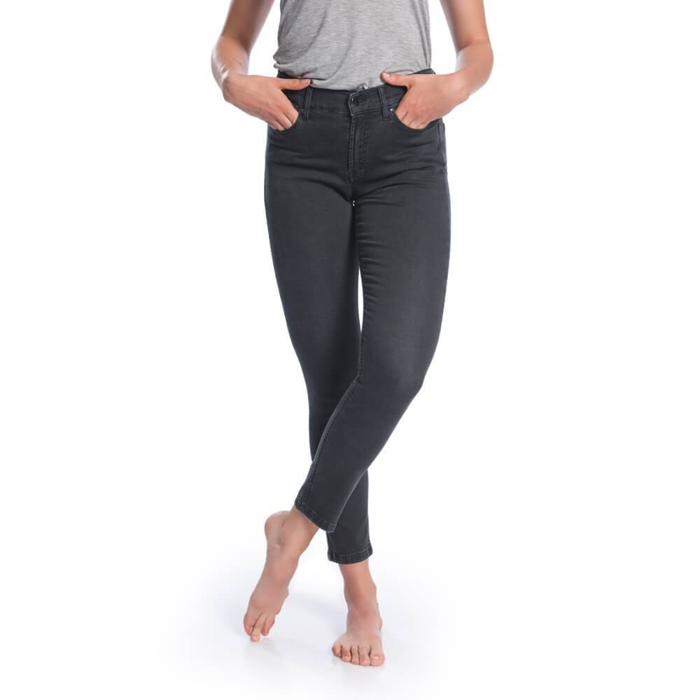 Sustainable Tencel Jeans - Black High Waisted Jeans for Women