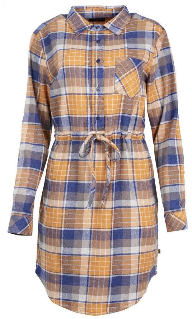 United By Blue - Womens Moraine Umber Flannel Dress