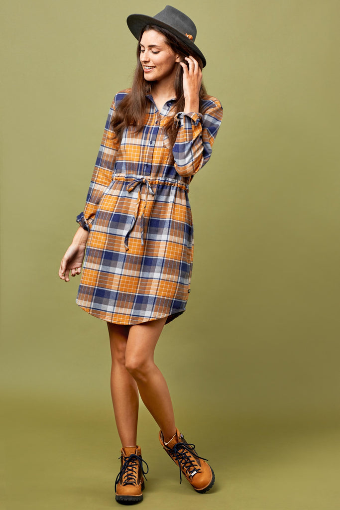 Womens Moraine Flannel Dress