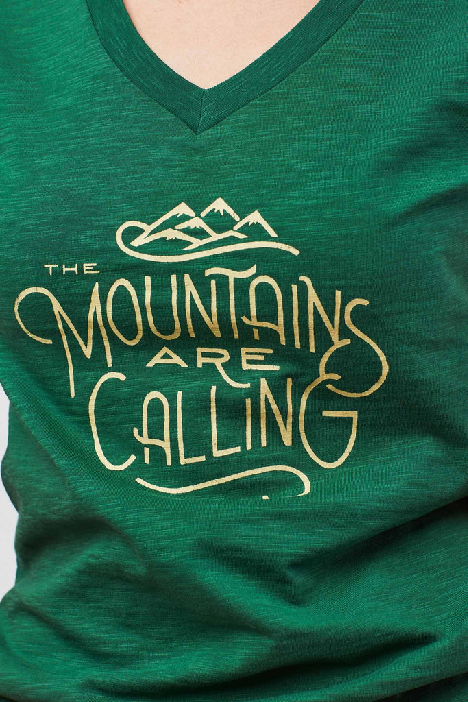 Womens Mountains Are Calling Short Sleeve T-Shirt