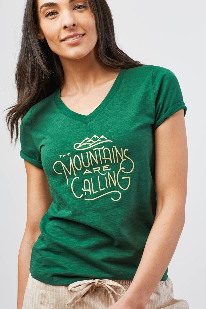 United By Blue - Women's The Mountains Are Calling T-Shirt - Organic Cotton Tee