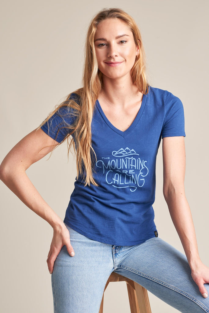 United By Blue - Womens Mountains Are Calling Short Sleeve Tee - T-Shirts