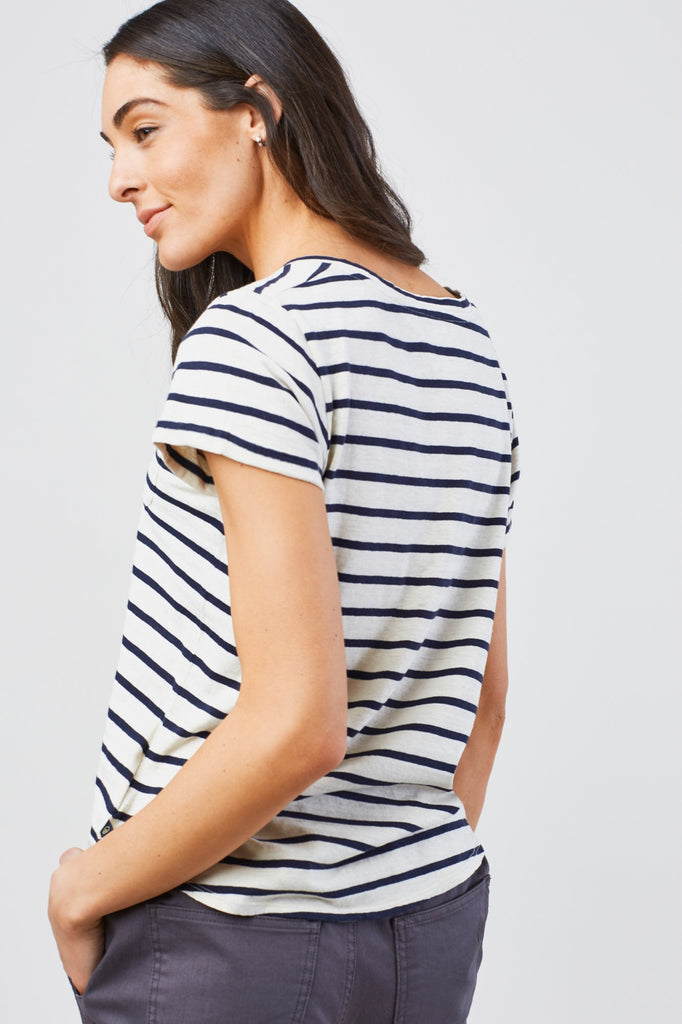 United By Blue - Womens Standard Striped Pocket T-Shirt