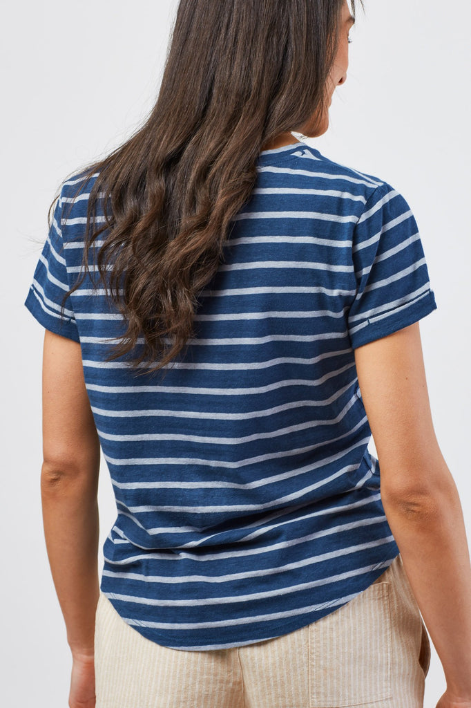 United By Blue - Womens Standard Striped Pocket Tee - T-Shirts