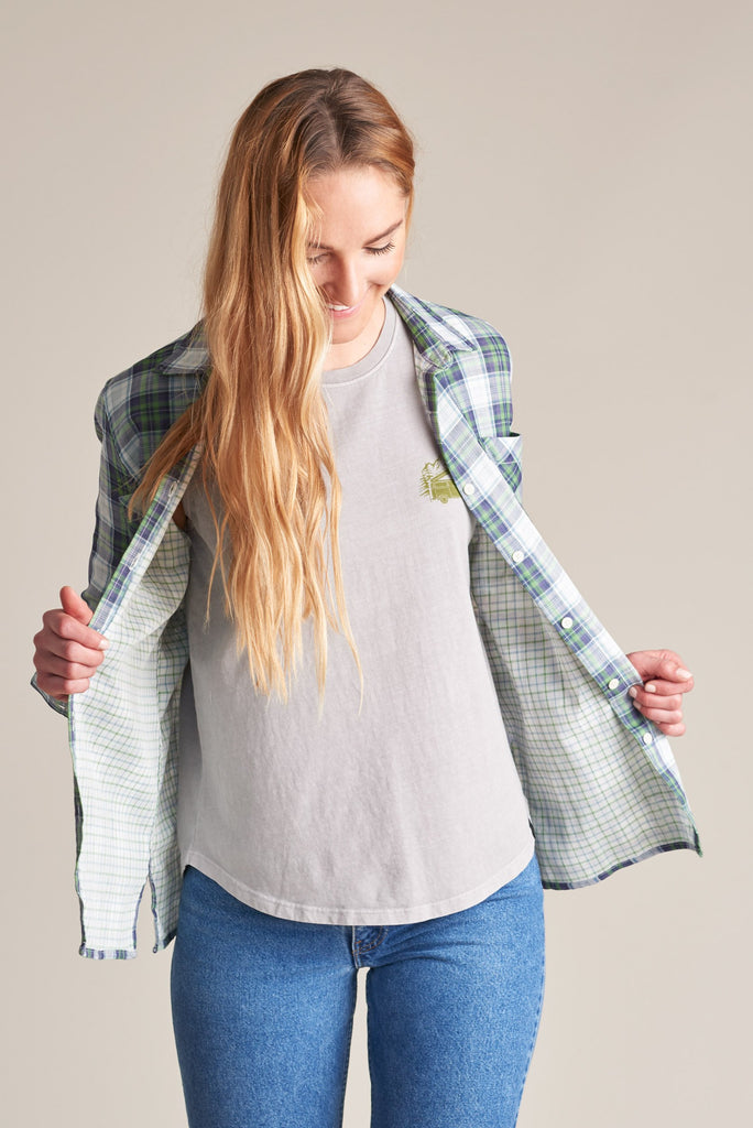 United By Blue Womens Stargrass Relaxed Plaid Shirt - Green | TheOutdoorBoutique.com