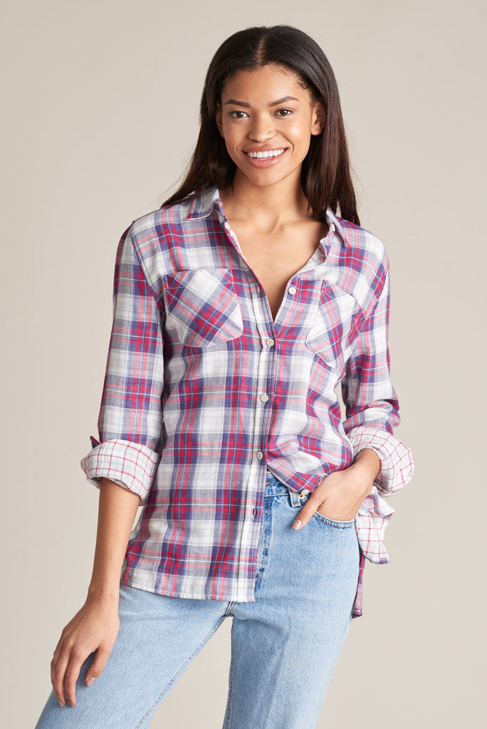 United By Blue - Womens Stargrass Relaxed Plaid Button Down - Shirt