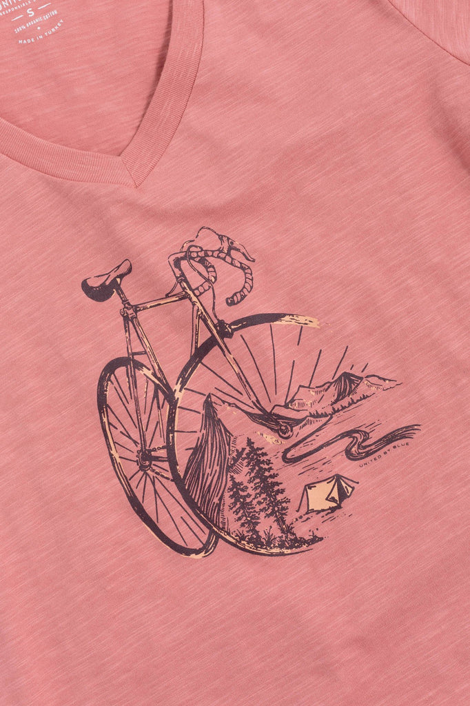 United By Blue - Womens Ride Home Dusty Rose Tee - T-Shirt