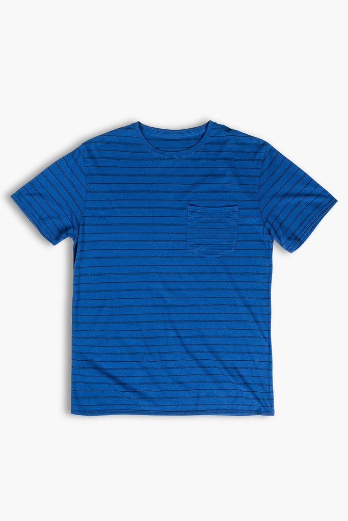 United By Blue Mens Standard Striped Tee - Blue | TheOutdoorBoutique.com