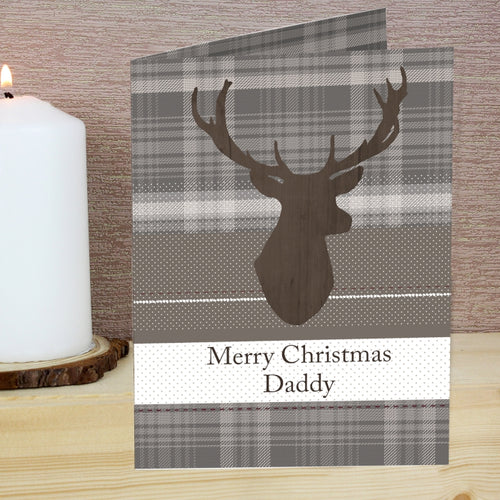 Highland Stag Personalised Card
