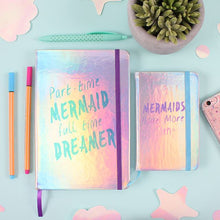 Load image into Gallery viewer, Part Time Mermaid A5 Lined Notebook