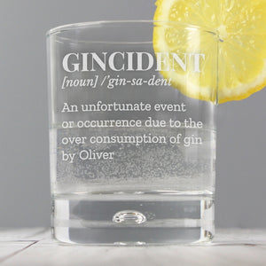 Gincident Tumbler Bubble Glass