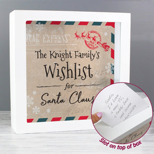 Wishlist for Santa Keepsake Box
