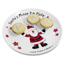 Load image into Gallery viewer, Spotty Santa Mince Pie Plate