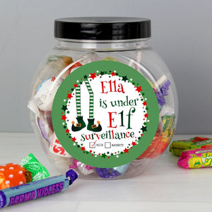 Christmas Elf Sweet Jar