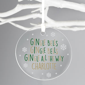 GINgle Bells Acrylic Bauble
