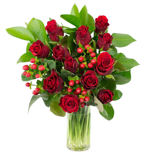 Winter Rose Red Bouquet