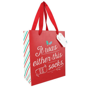 Medium Red Christmas Gift Bag