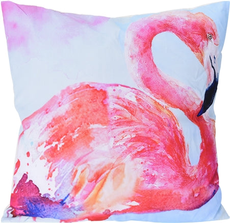 Watercolour Flamingo Cushion