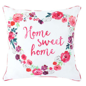 Floral Fusion Square Cushion