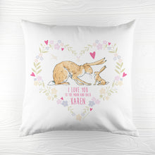 Load image into Gallery viewer, Wreath Heart Cushion Cover