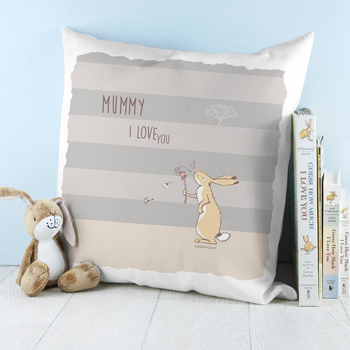 Striped Hare Cushion Cover