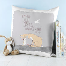 Load image into Gallery viewer, Best Place Hare Cushion Cover