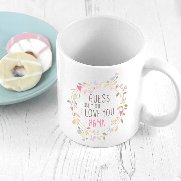 Wreath Design Ceramic Mug