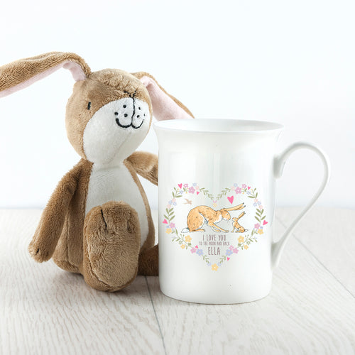 Wreath Heart Bone China Mug