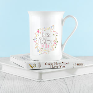 Wreath Design Bone China Mug