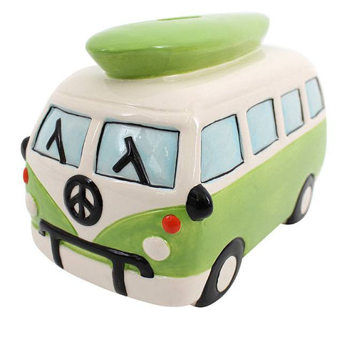 Green Campervan Money Box
