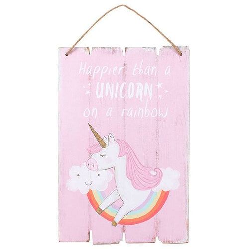 Pink Unicorn Plaque