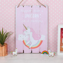 Load image into Gallery viewer, Pink Unicorn Plaque