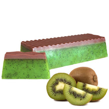 Load image into Gallery viewer, Tropical Paradise Kiwi Soap Slice