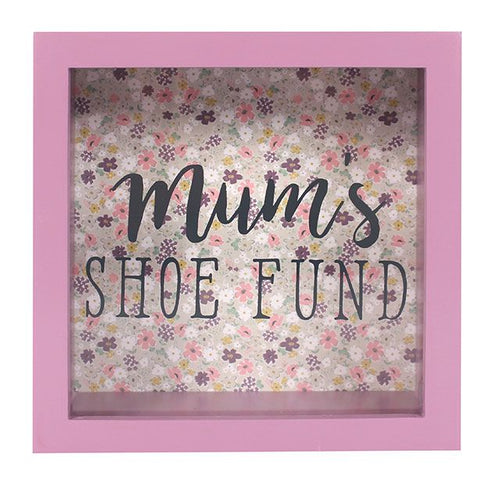 Floral Mum's Shoe Fund Money Box