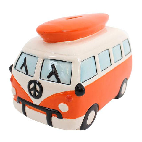 Orange Campervan Money Box