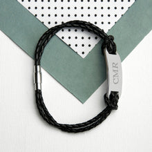 Load image into Gallery viewer, Black Statement Leather Bracelet