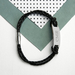 Black Statement Leather Bracelet