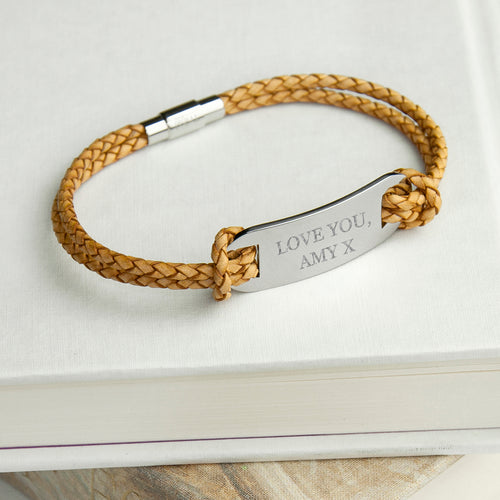 Sandstone Statement Leather Bracelet
