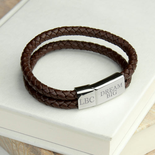 Umber Dual Leather Bracelet