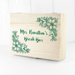 Teacher's Floral Tea Box