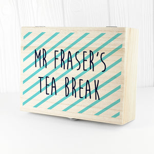 Teacher's Striped Tea Box
