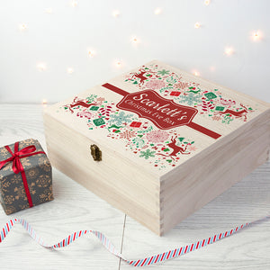 Christmas Eve Box With Festive Ribbon
